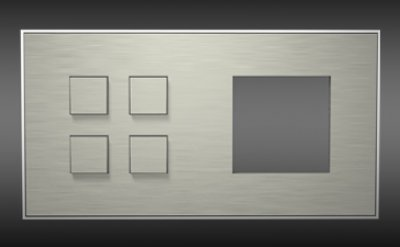 sb4tmg24 lithoss 4 fach 24v taster mit ffnung rechts 133 28. Black Bedroom Furniture Sets. Home Design Ideas